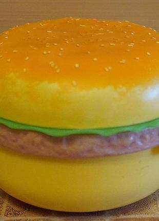 Ланч- бокс коробка для бутербродов в виде бургера 3 отделения