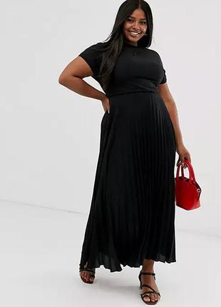 Макси платье плиссе р. 56