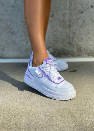 Женские белые кроссовки nike air force shadow / жіночі білі кросівки найк