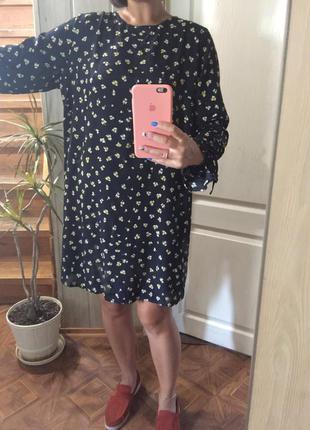 Платье в цветочный принт от h&m