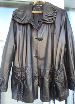 Красивая турецкая кожаная куртка 54-56р. basel.