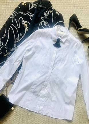 Обалденная белая блуза рубашка дорогого бренда pietro filipi