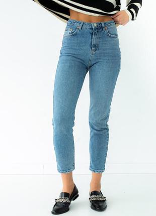 Высокие прямые джинсы мом  турция