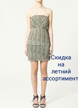 Zara платье плиссированное анималистический принт