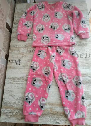 Пижама на девочку 3-4 лет