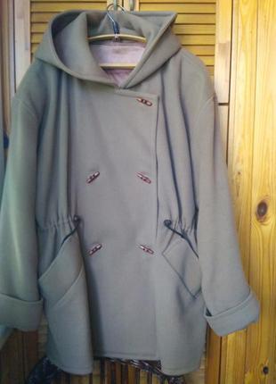Кашемир пальто-куртка 20-22!