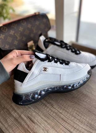 Шикарные белые кожаные кроссовки топ качество 🔥