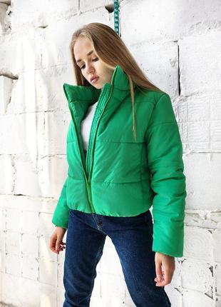 Осенняя малиновая зелёная бежевая красная черная мятная горчичная куртка зефирка. демисезонная куртка зефирка
