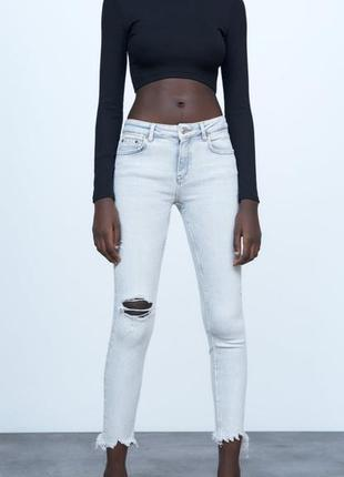 Фирменные джинсы скинни zara