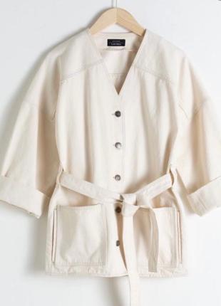 Джинсовая куртка кимоно &other stories как arket cos monki