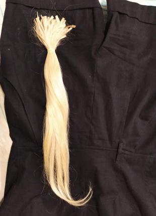 Капсулированные волосы на капсулах для горячего наращивания южанка блонд южно-русские