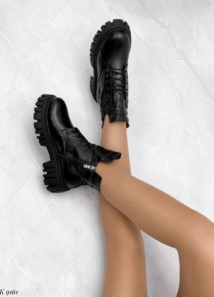 Ботинки женские на платформа натуральная кожа