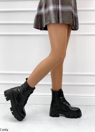 Женски ботиночки на актуальной подошве, натуральная кожа