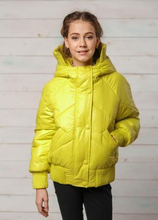 Демисезонная куртка для девочки на резинке
