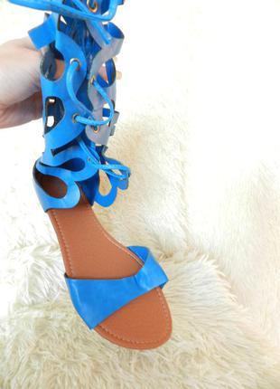 ✅ летние сандалии сапожки гладиаторы шнуровка разные цвета и размеры