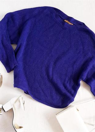 Шерстяной яркий свитер оверсайз