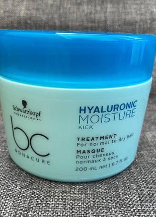Маска для интенсивного увлажнения волос schwarzkopf professional bonacure hyaluronic moisture kick