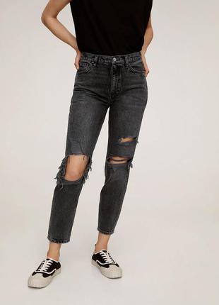 Новые джинсы mom mango