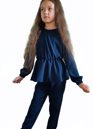 Школьный комплект блузка и брюки