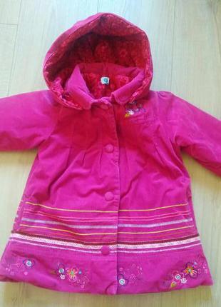 Тепле дитяче пальто з капюшоном/пальто для дівчинки alco