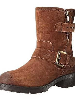 Clarks!замшевые ботинки,р37