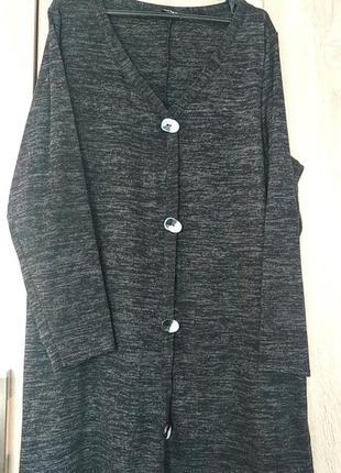 Красивая теплая туника туніка свитер светр размер 56-58