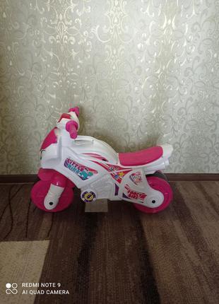Беговел мотоцикл для девочки