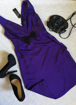 Платье шёлковое, баклажан индиго holly- m.