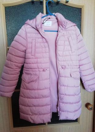 Тёплое красивое пальто на флисе zara