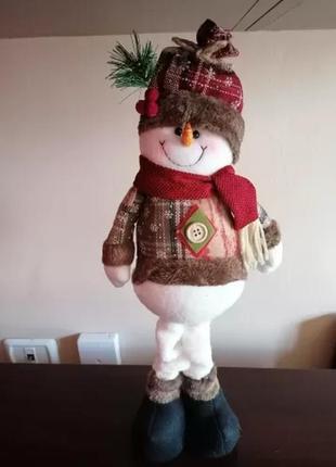 Новогодняя фигурка снеговик.