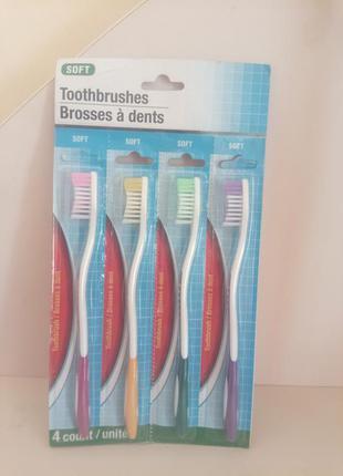 Мягкие зубные щетки в наборе 4 шт