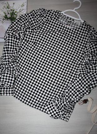 Стильная блуза, в трендовый принт-шахматная клетка!