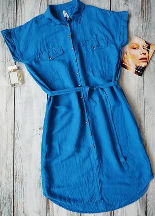 Платье сине-голубого цвета