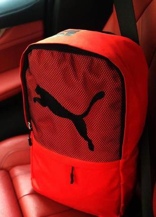 Спортивный, женский рюкзак puma (чёрный, красный)