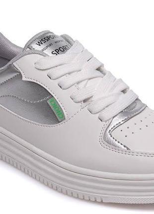 Модные белые кроссовки р.32-37 наложенный платеж