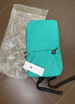 Новый бирюзовый рюкзак (портфель) xiaomi mi 10l, сяоми ми