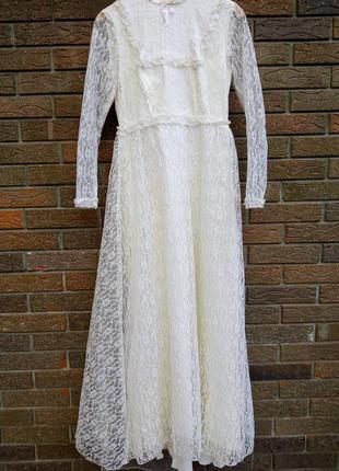 Винтажное свадебное бальное платье романтичное ретро винтаж кружево сукня вінтаж фотосессия