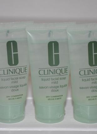 Мыло жидкое для сухой и комбинированной кожи clinique liquid facial soap mild