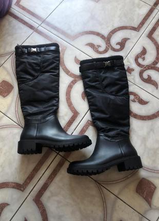 Сапоги гумові чоботи черевики сапожки резиновые dkny rain