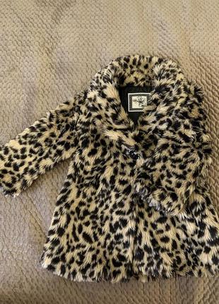 Шуба леопардовая dunnes stores