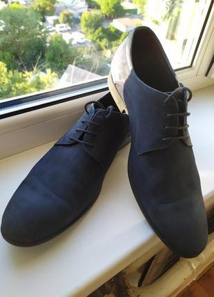 Туфли мужские натуральный нубук 42-43р