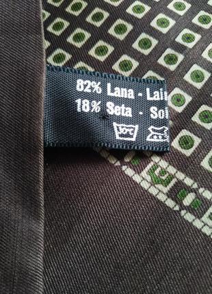 Стильный мужской шарф шерсть шелк.