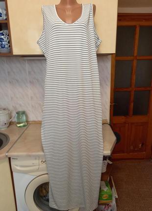 Новое длинное платье сарафан трикотаж батал этикетка