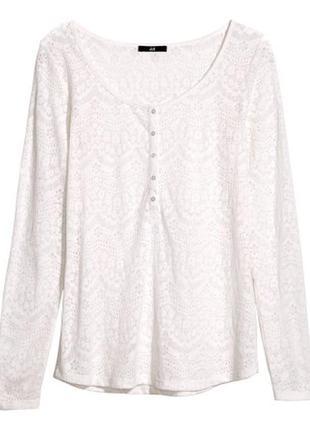 Белая блуза н&m