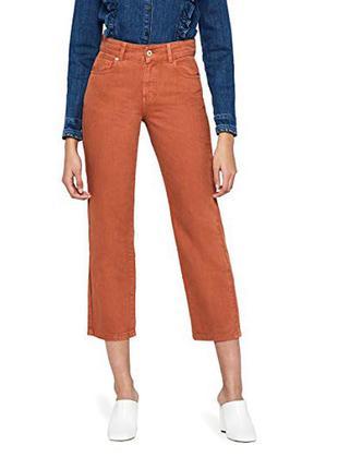 Терракотовые укороченные прямые джинсы от find.