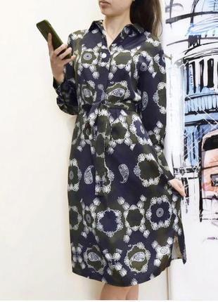 Платье рубашка длиной миди разм s autograph