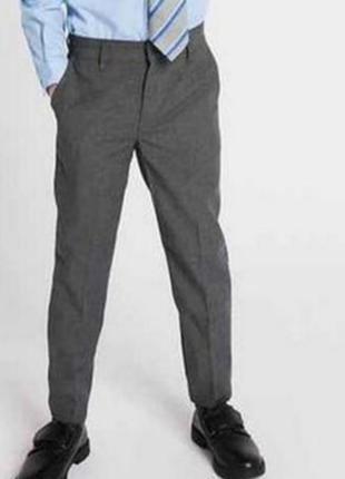 Брюки штаны классические школьные серые 176 см