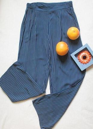Синие штаны в мелкую полоску от tu, размер s