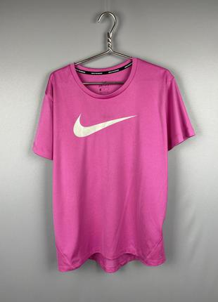 Nike running футболка спортивная женская розовая