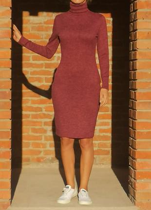 Теплое платье чулок